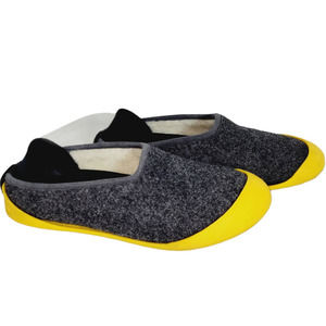 Mahabis Classic Slippers Charcoal Yellow